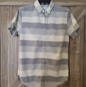 Mens Cactus Short Sleeve Button Up S